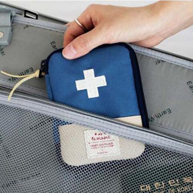 Cestovní pouzdro na léky Přenosný Cestovní sklad pro Přenosný Cestovní sklad Červená Modrá