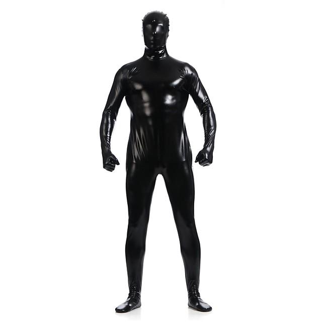 Glimmende Zentai-Pakken Skin Suit Full Body Suit Ninja Volwassenen Spandex Latex Cosplaykostuums Sekse Heren Dames Effen Halloween / Gympak / Onesie / Gympak / Onesie / Hoge Elasticiteit