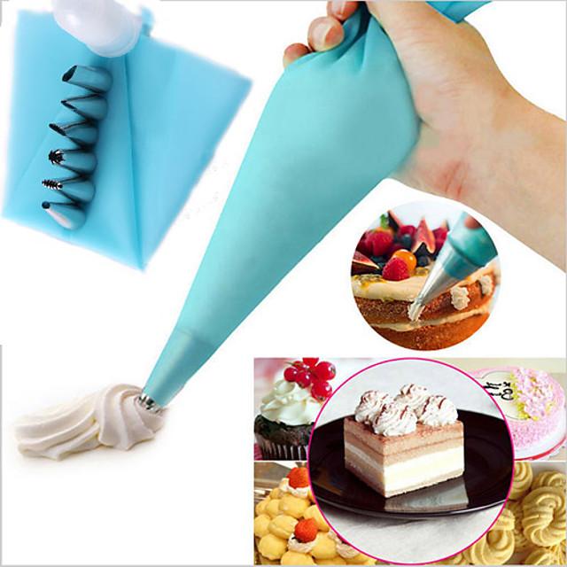 6pcs kit de decoração do bolo dicas de saco de confeiteiro cozer ferramenta colar pastelaria