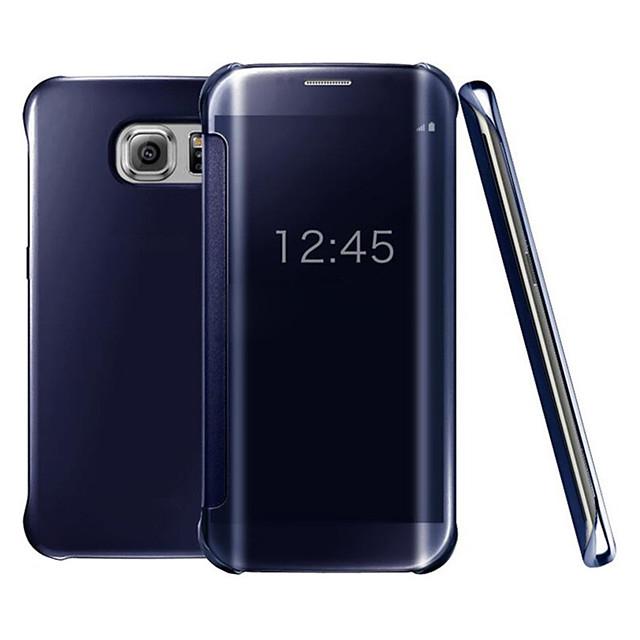 telefono Custodia Per Samsung Galaxy Integrale Custodia flip S9 S9 Plus S8 Plus S8 Bordo S7 S7 S6 edge plus Bordo S6 S6 S10 Placcato A specchio Con chiusura magnetica Tinta unica Resistente PC