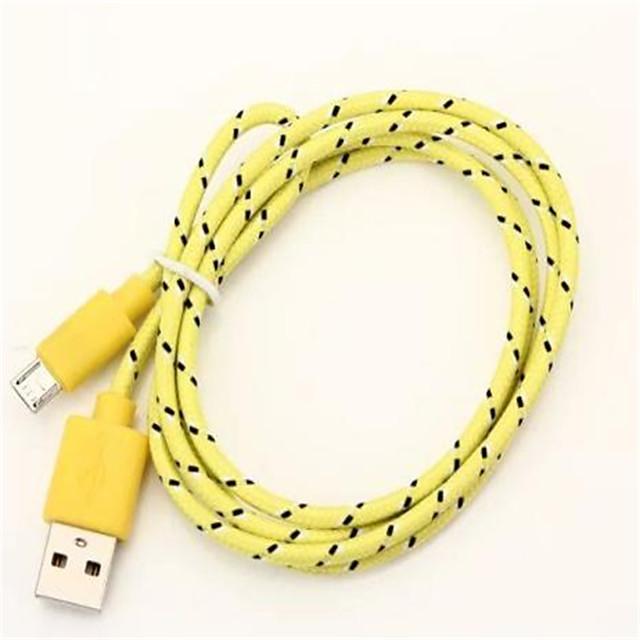 Micro USB 2.0 / USB 2.0 Cablu  1m-1.99m / 3ft-6ft Împletit Nailon Adaptor pentru cablu USB Pentru