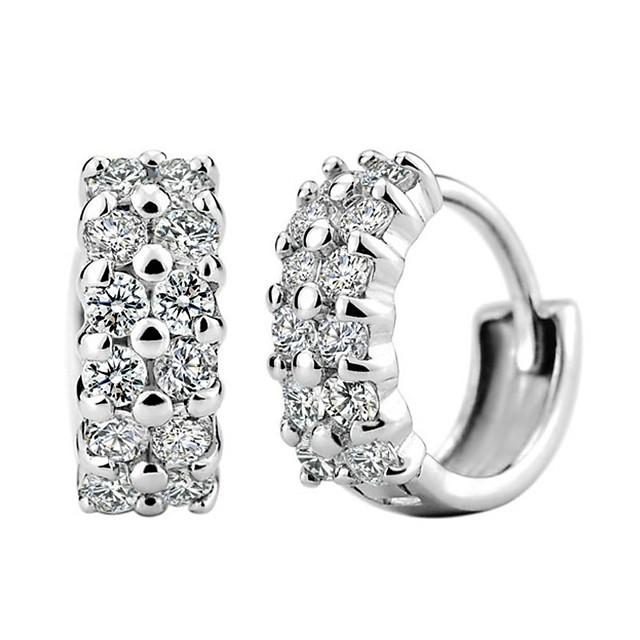 Pentru femei Zirconiu Cubic Cercei Stud Plastic Zirconiu Cubic cercei Bijuterii Argintiu Pentru Nuntă Petrecere Zilnic Casual