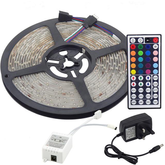 5m fleksibilne led svjetlosne trake / svjetlosni setovi / svjetlosne trake svjetla LED 3528 smd 8 mm rgb daljinski upravljač / rc / rezni / zatamnivi 100-240 v / povezivi / samoljepljivi / mijenjanje