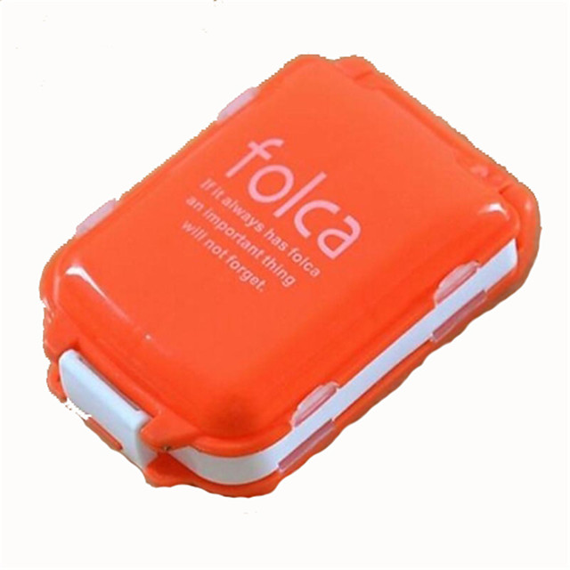 Pill Case Compact Size Plastic Hiking