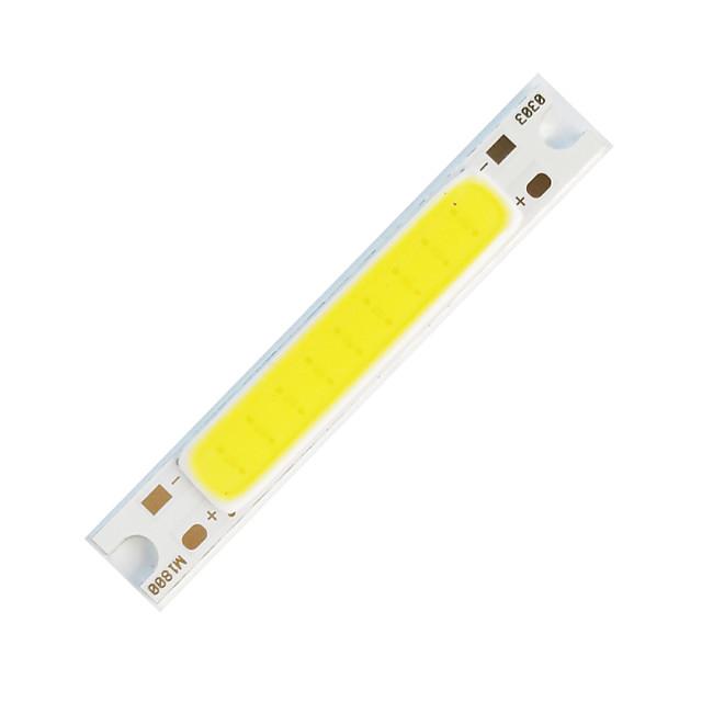 ZDM 1шт DIY 5W 48x7,5 мм 300-400 лм теплый белый / 3000-3500 К световой удар светодиодный излучатель утолщенной алюминиевой подложки (DC5V)