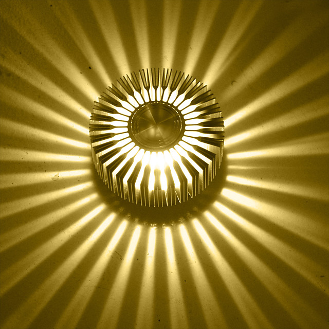 Modern contemporan Coridor Metal Lumina de perete 3 W / LED Integrat