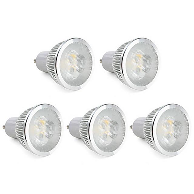 Spoturi LED 310 lm GU10 MR16 3 LED-uri de margele LED Putere Mare Intensitate Luminoasă Reglabilă Alb Cald 220-240 V / 5 bc