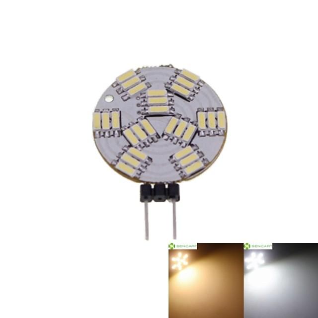 SENCART 1 buc 2 W Spoturi LED 3000-3500/6000-6500 lm G4 MR11 27 LED-uri de margele SMD 4014 Intensitate Luminoasă Reglabilă Alb Cald Alb Natural 12 V / 5 bc / RoHs