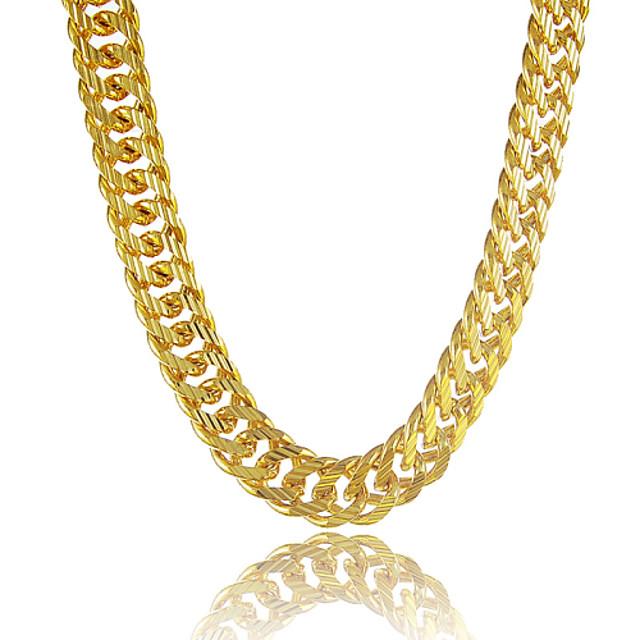 Bărbați Lănțișoare Mariner Chain Personalizat Dubai Hip Hop Placat cu platină Placat Auriu Umplute cu Aur Auriu Coliere Bijuterii Pentru Cadou Zilnic Casual Sport Plajă