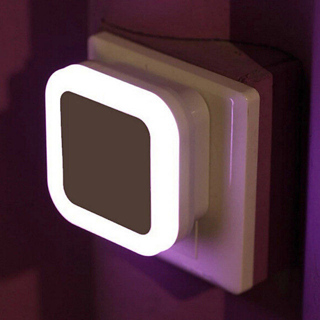 جهاز استشعار لاسلكي led ضوء الليل eu plug mini square night lights for baby room bedroom corridor lamp