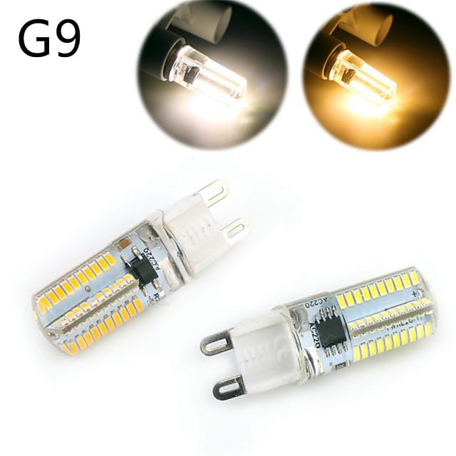 YWXLIGHT® 1 buc 5 W Becuri LED Corn 500 lm E14 G9 G4 T 80 LED-uri de margele SMD 3014 Intensitate Luminoasă Reglabilă Decorativ Alb Cald Alb Rece 220-240 V 110-130 V / RoHs