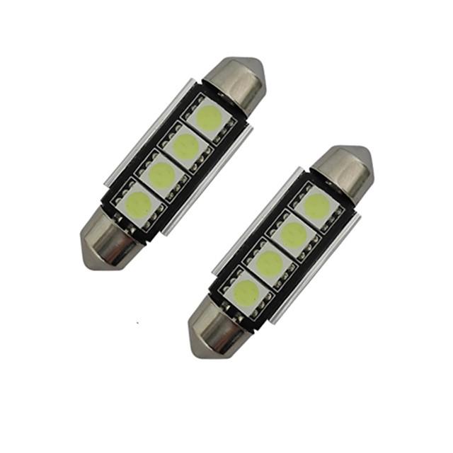 jiawen 2pcs 42mm 1.5w 80-90 lm automobil svjetlo za čitanje svjetlo ukras svjetlo 4 leds smd 5050 hladna bijela dc 12v