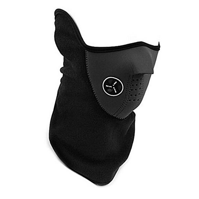 Mască sport Face Mask Keep Warm Rezistent la Vânt Respirabil Cald Bicicletă / Ciclism Rosu Albastru Negru pentru Bărbați Pentru femei Adulți Schiat Ciclism / Bicicletă Sporturi de Iarnă Culoare solidă