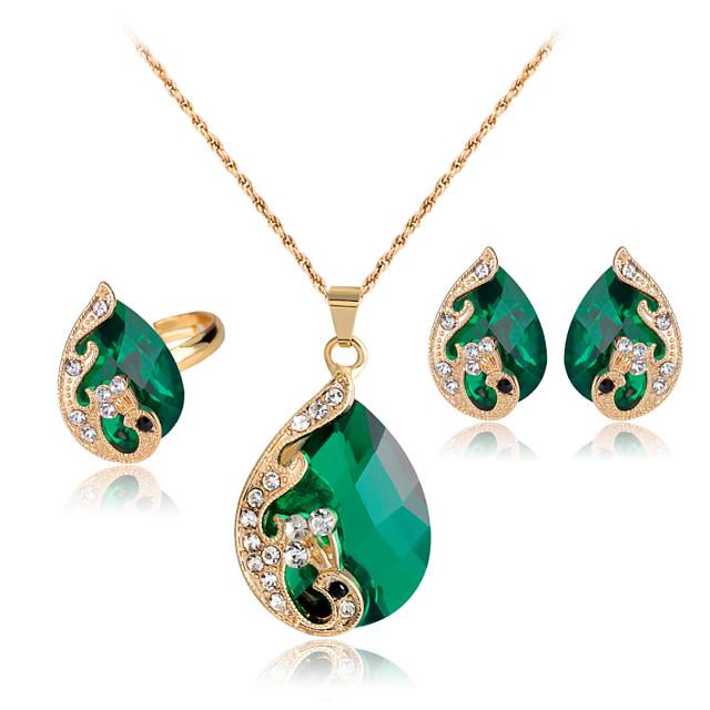 fancy red and blue-green earrings
