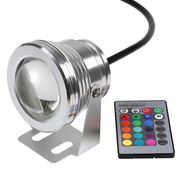 lumières submersibles extérieures lumières sous-marines imperméables télécommandées télécommandées rgb 12 v LED perles