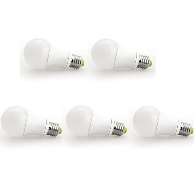 5pcs 9 W Bulb LED Glob 1000 lm E26 / E27 A60(A19) 1 LED-uri de margele COB Alb Cald 100-240 V / 5 bc / RoHs