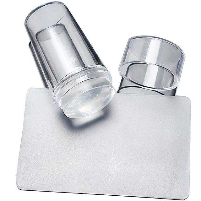 2 pcs Nail DIY Tools Stampplate Neglekunst Manikyr pedikyr Stilig Design Stilfull / Rund / Kvadrat-formet / stempling Plate
