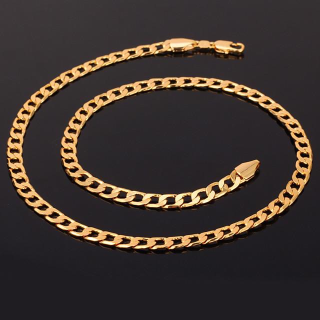 Pentru femei Lănțișoare Coliere Figaro lanț chunky femei Modă Dubai Placat Auriu Aur Alb 18K de aur umplut Auriu Roz auriu Argintiu Coliere Bijuterii Pentru Cadouri de Crăciun Nuntă Petrecere Ocazie