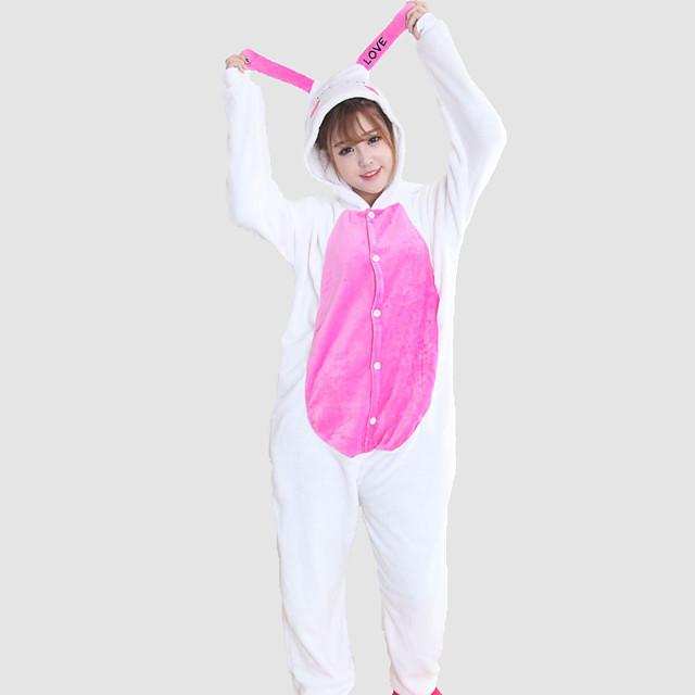 Adulți Pijamale Kigurumi Iepuraș de iepure Animal Pijama Întreagă Lână de corali Cosplay Pentru Bărbați și femei Haine de dormit pentru animale Desen animat Festival / Vacanță Costume