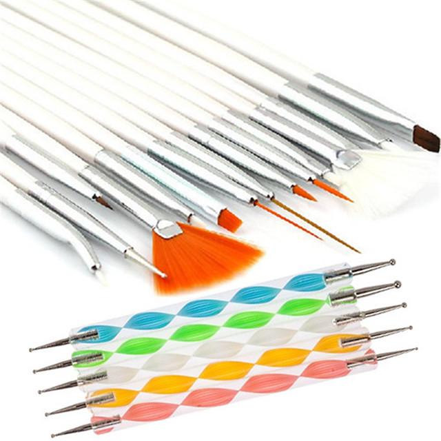 20pcs Lemn Plastic Nailon Instrumente de manichiură pentru unghii Design Modern Ușor, rezistent și durabil Șic & Modern Modă Nail Art Files & Tampoane Unelte pentru unghii pentru Unghie Unghie deget