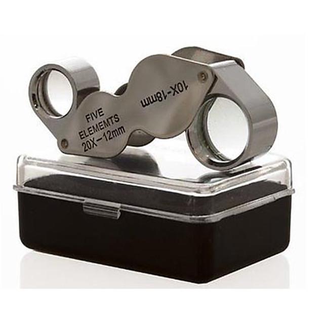 Microscop / Lupe Bijuterii / Reparație Ceas High Definition / Mâner / Pliere / Generic 10X  20X 18mm Normal Metal