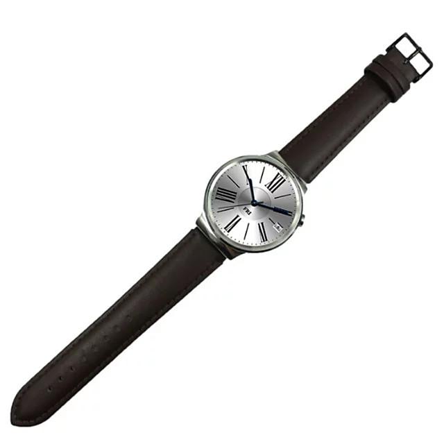 Ремешок для часов для Huawei Watch Huawei Классическая застежка / Кожаный ремешок Кожа Повязка на запястье