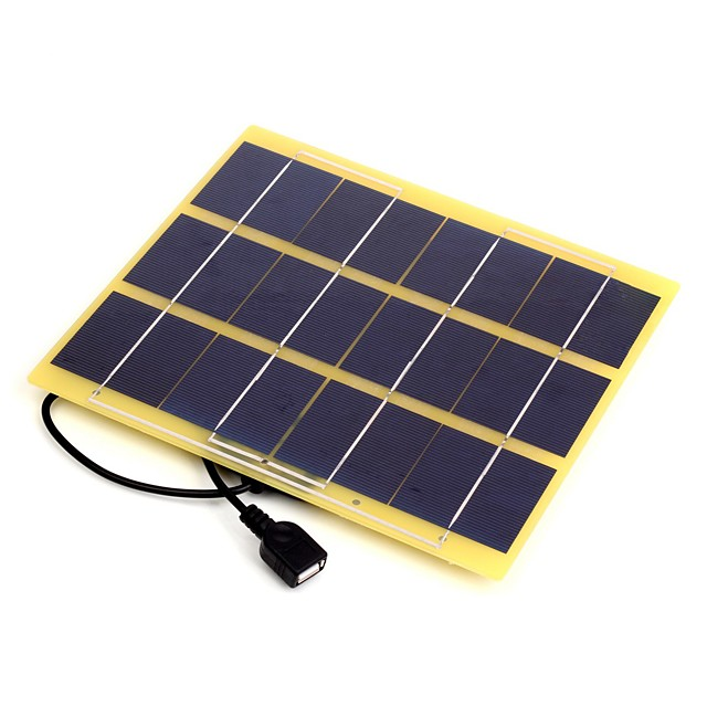 5W 5V USB Output Monocrystalline Silicon Solar Panel Charger for iPhone 6S  Samsung HUAWEI (SWB5005U) 5114695 2021 – $20.99