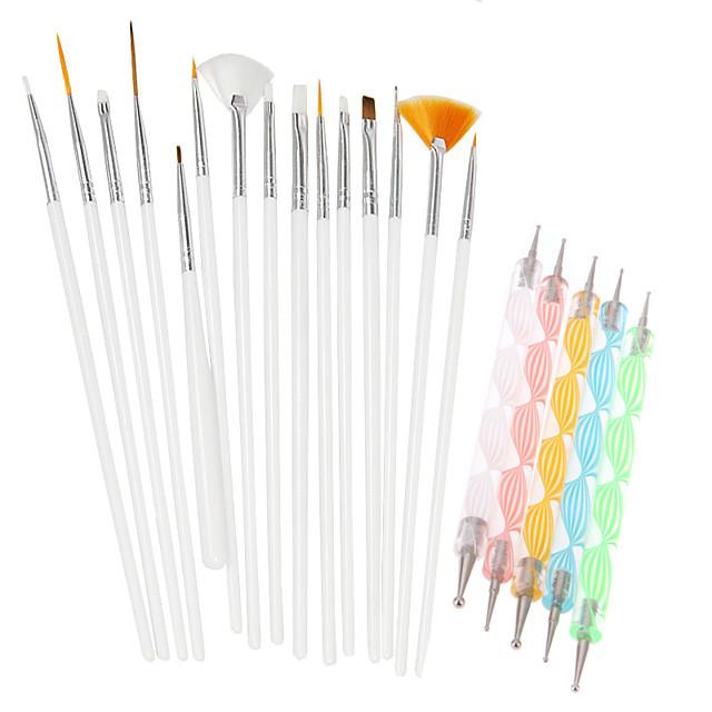 20pcs/Set Truse de unghii Încântător Șic & Modern La modă Kit Acrilic Unelte pentru unghii pentru Unghie Unghie deget picior Pensulă Acrilic