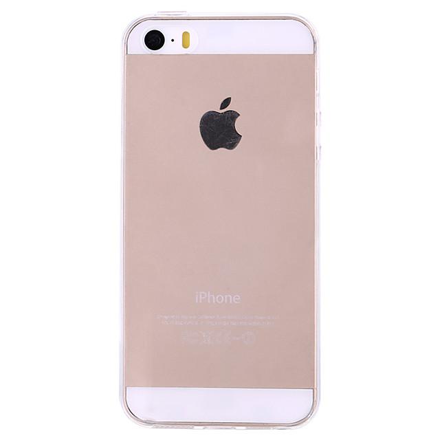 Maska Pentru iPhone 5 / Apple iPhone SE / 5s / iPhone 5 Ultra subțire / Transparent Capac Spate Mată Moale TPU