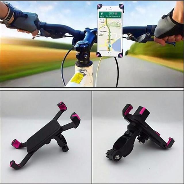حامل الجوال للدراجة المحمول مكافحة هزة مستقر إلى دراجة الطريق دراجة جبلية ABS iPhone X iPhone XS iPhone XR ركوب الدراجة أسود زهري 1 pcs