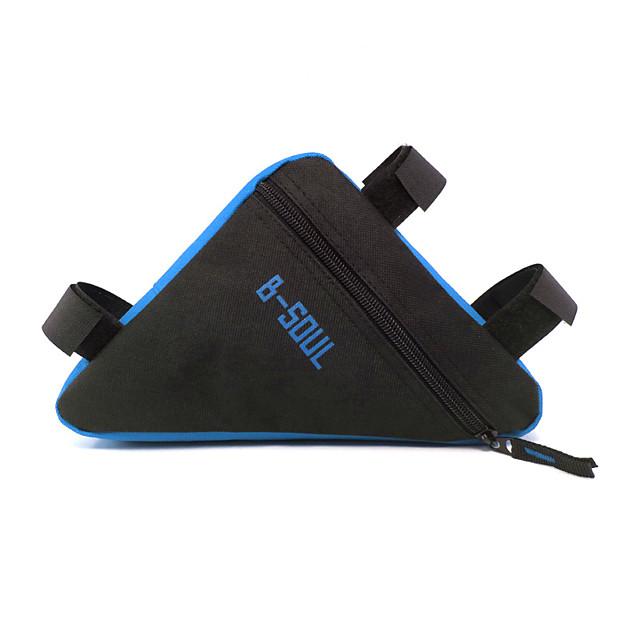 B-SOUL 0.5 L 自転車用フレームバッグ 調整可能 大容量 防水 自転車用バッグ オックスフォード 自転車用バッグ サイクリングバッグ ロードバイク マウンテンバイク サイクリング / バイク