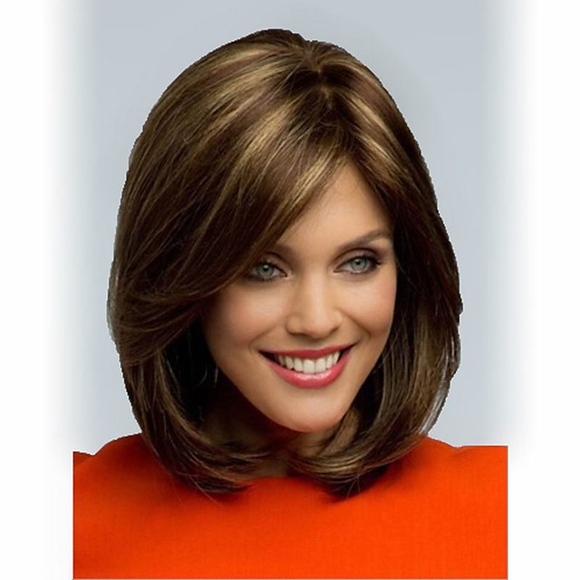 Synthetic Wig Straight Straight Wig Short Synthetic Hair Women's Brown StrongBeauty