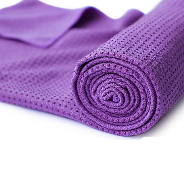 Prosop de yoga Fără miros Ecologic Antiderapant Non Toxic Uscare rapidă Super moale Absorbția transpirației microfibră pentru Yoga Pilates Bikram 180.0*60.0*0.5 cm Mov Portocaliu Verde