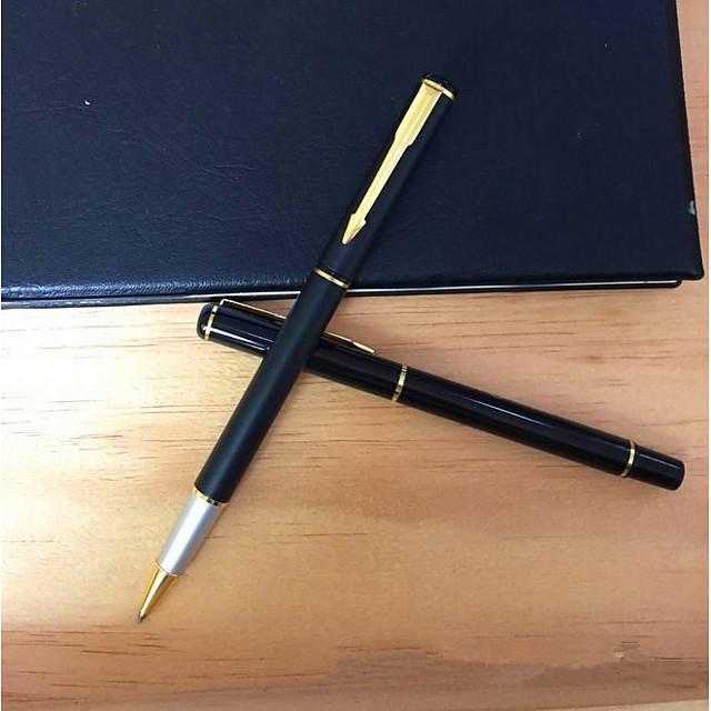 Kugelschreiber Stift Kugelschreiber Stift, Kunststoff Schwarz / Blau Tintenfarben Für Schulzubehör Bürobedarf Packung