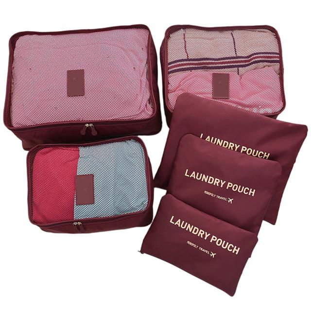6 juegos Bolsa de Viaje Organizador de viajes Organizador para viaje Gran Capacidad Impermeable Utra ligero (UL) A prueba de polvo Telas no tejidas Para Unisex Viaje / Duradero