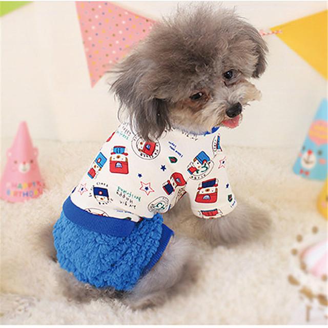 كلب البلوزات ملابس الجرو الأزهار النباتية مطبوعة بأحرف وأرقام كاجوال / يومي الشتاء ملابس الكلاب ملابس الجرو ملابس الكلب كوستيوم للفتاة والفتى الكلب قطن XS S M L XL