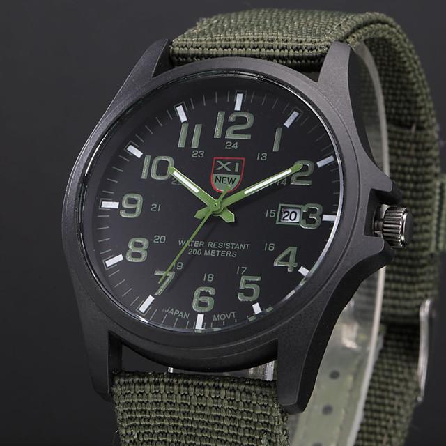 Hombre Reloj Militar vigilancia de campo Reloj de caza Cuarzo Casual Calendario Analógico Blanco / Negro Negro Azul / Un año / Acero Inoxidable / SSUO 377