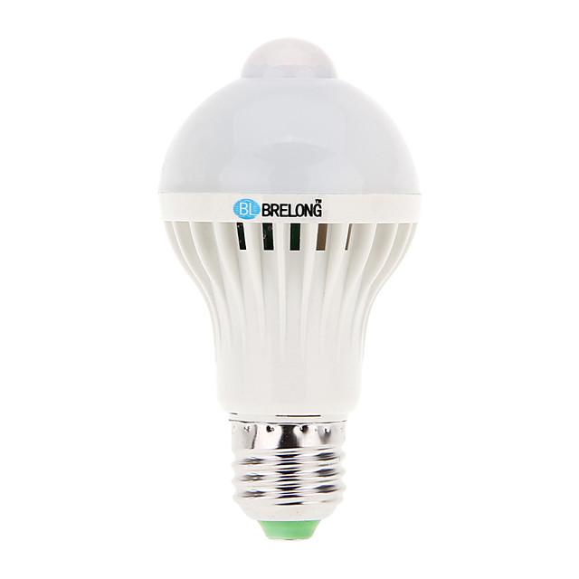 BRELONG® 1 buc 7 W Bulb LED Glob 600 lm E26 / E27 A60(A19) 16 LED-uri de margele SMD 5730 Senzor Decorativ Alb Rece 220-240 V 200-240 V / 1 bc
