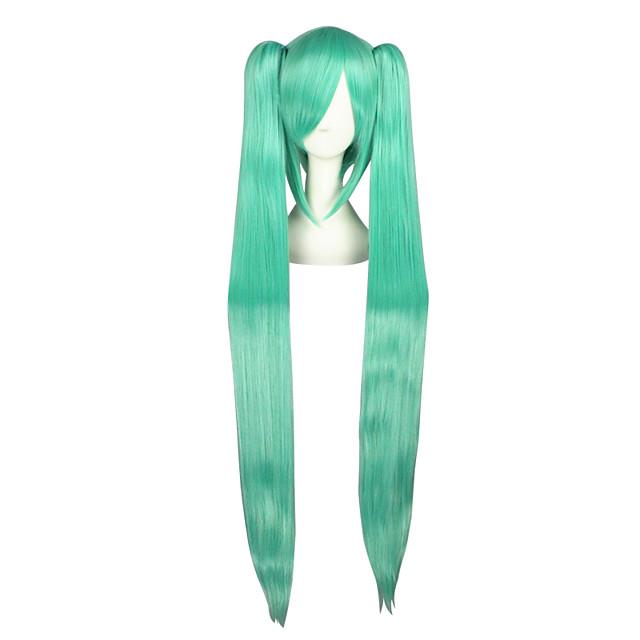 Perruques de Cosplay Vocaloid Mikuo Vert Extra Long / Droite Anime Perruques de Cosplay 120 CM Fibre résistante à la chaleurMasculin /