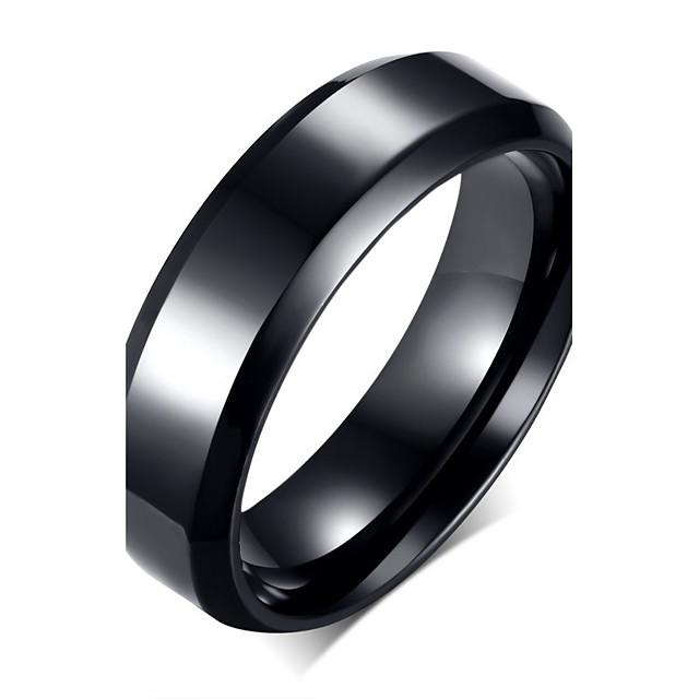 Bandring Zwart Roestvast staal Titanium Staal Modieus 7 8 9 10 11 / Voor heren / Voor heren / Feest / Dagelijks / Informeel