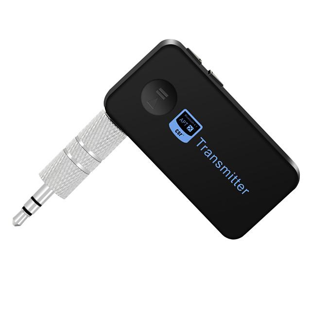 trasmettitore bluetooth musica audio stereo con uscita audio da 3,5 mm altoparlanti bluetooth ricevitore vivavoce per auto / tv / musica per computer audio aux cuffie durata della batteria di 8 ore ch