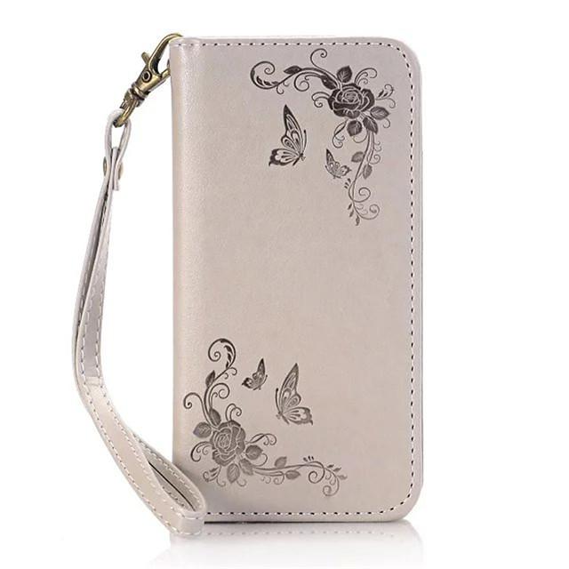 Capinha Para Samsung Galaxy S8 Plus / S8 / S7 edge Carteira / Porta-Cartão / Com Suporte Capa Proteção Completa Flor Rígida PU Leather