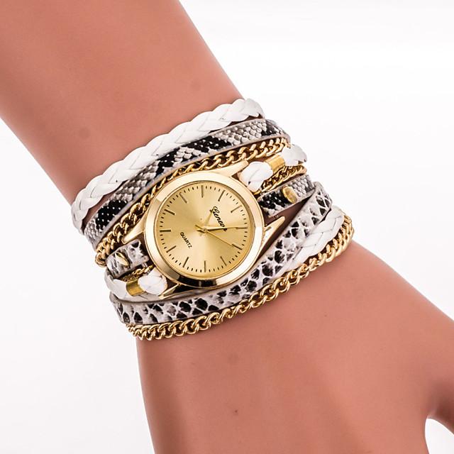 Pentru femei femei Ceas Brățară Ceas de Mână ceasul cu ceas Quartz Wrap Casual Cool Analog Alb Negru Rosu / Un an / Oțel inoxidabil / Piele PU Matlasată / Un an