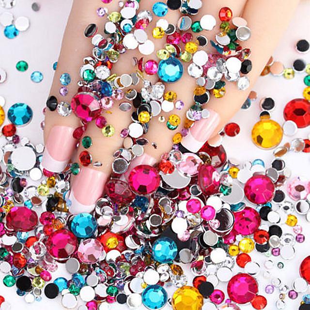 2000 pcs ABS Bijuterie unghii Pentru nail art pedichiura si manichiura Zilnic Glitters / Modă / Unghiul de bijuterii