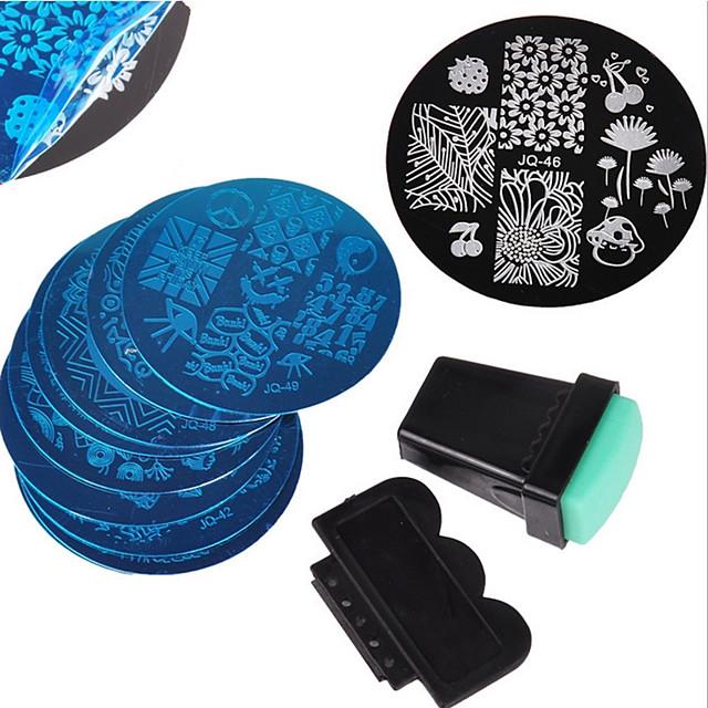 12 pcs Stempling plade Negle kunst Manicure Pedicure Moderigtigt Design Stilfuld / Mode Daglig / Stempling Plate / Metal