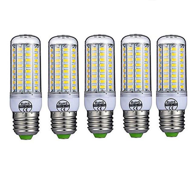 5pcs 10 W LED klipaste žarulje 980 lm E26 / E27 T 72 LED zrnca SMD 5730 Ukrasno Toplo bijelo Hladno bijelo 220-240 V / 5 kom. / RoHs