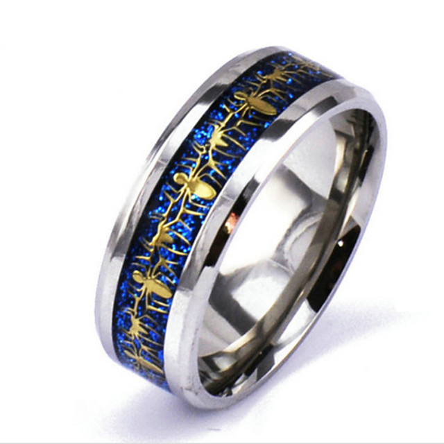 Band Ring Argintiu Aliaj Punk Rock 6 7 8 9 10 / Bărbați