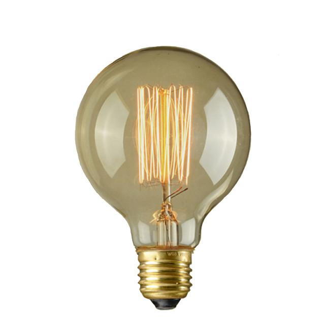 1 pc 40 W E26 / E26 / E27 / E27 G95 Blanc Chaud 2300 k Ampoule à incandescence Vintage Edison 110-220 V / 220-240 V / 110-130 V