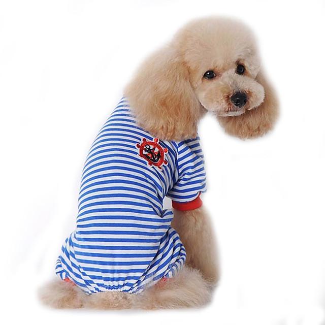 Cane Tuta Pigiami Vestiti del cucciolo Marinaro Casual Inverno Abbigliamento per cani Vestiti del cucciolo Abiti per cani Nero Rosso Blu Costume per ragazza e ragazzo cane Cotone S M L XL XXL