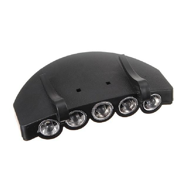 5Ampoules LED chasse phare cap lampe de poche lampe de lampe torche chapeau de phare de camping de pêche en plein air pince super lumineux